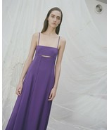 3.1 Phillip Lim Cut out Crepe Maxi Dress Violet Size 6 - $78.21