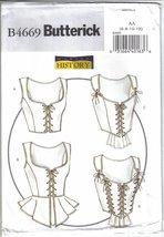 Butterick Pattern B4669 Historic Corsets Misses Sizes 6  8  10  12 Uncut - $8.99