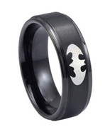 Black Tungsten Carbide Batman Wedding Band Ring - Price for one ring -   - $39.99