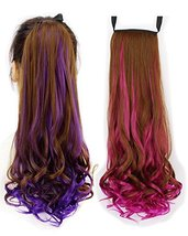 BarRan Ombre Drawstring Curly Ponytail Piece Clip in on Pony Tail Hair E... - $8.81