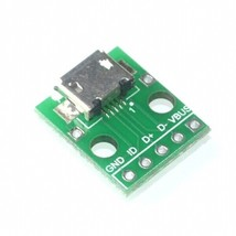 MICRO USB to DIP Adapter 5pin female connector B type pcb converter - $2.35