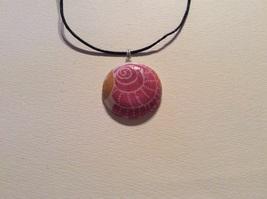 Pink glittery seashell necklace - $10.00