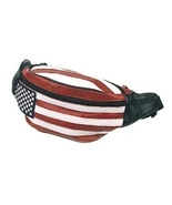 Leather Hip Pack, USA Flag - $21.99