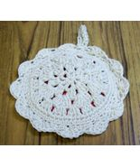Cherry Pie Hot Pad, Crochet, Handmade, Kitchen Decor, Double Thick, Host... - $13.00