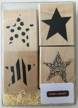 """""""Star Impressions"""" 4 Rubber Stamps 2-Part Close To My Heart S737 New NRFB - $12.59"""