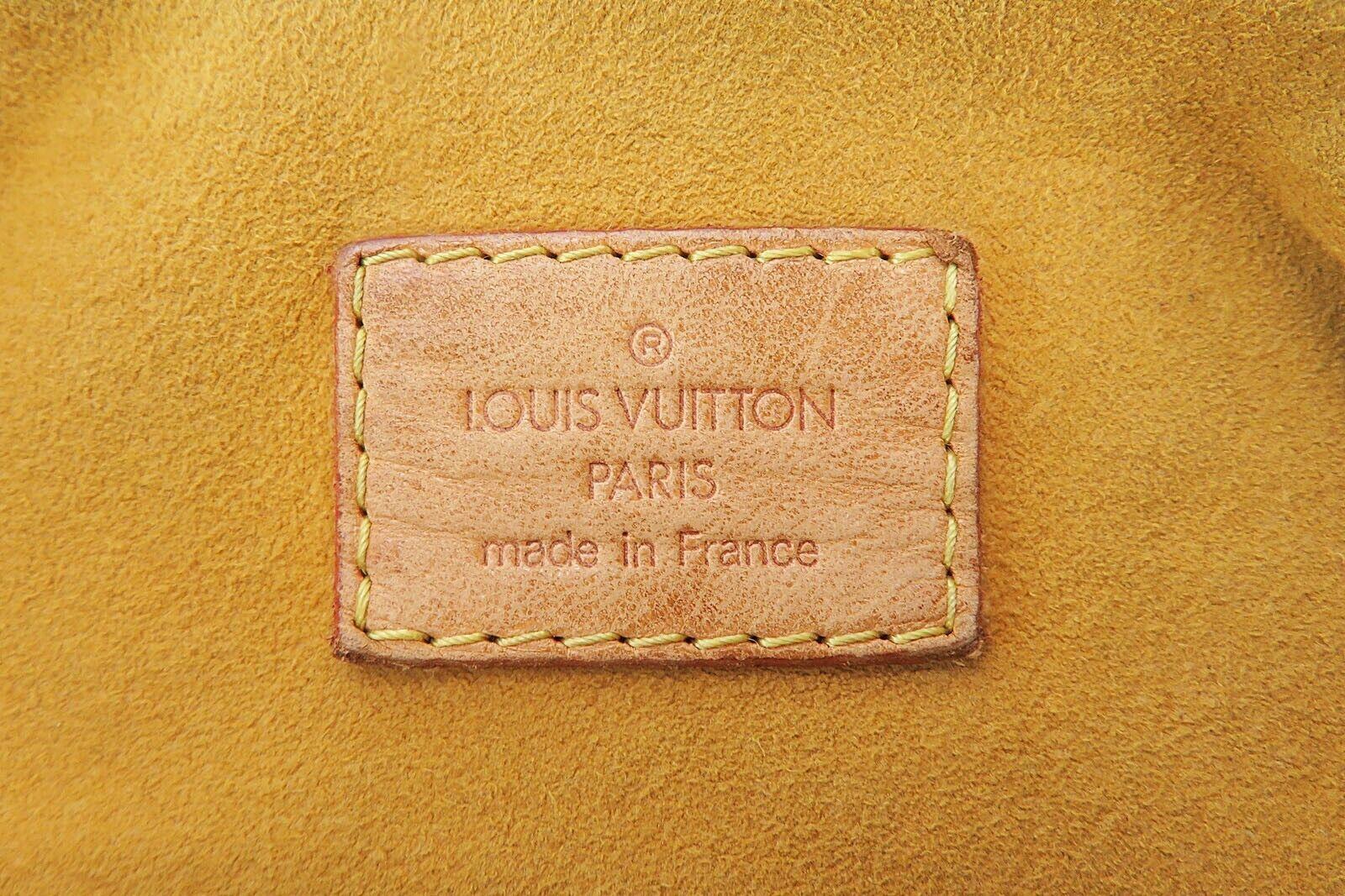 Authentic LOUIS VUITTON Baggy PM Blue Denim Shoulder Tote Bag Purse #34953 image 11