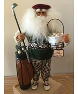 "Karen Didion Santa Claus  golf bag golfer 16"" CC16-05 - $105.00"