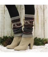 Leg warmers, CASHMERE, knit leg warmers, snowflake, winter, cute, slouch... - $12.99