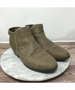 Sam Edelman Petty Ankle Bootie Classic Leather Dark Taupe Tan Big Girl's... - $24.95