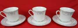 Sheffield BLUE WHISPER Porcelain Fine China Cups & Saucers Lot of 3 - $15.00