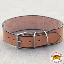 "01-22 22"" HILASON HEAVY DUTY HANDMADE GENUINE LEATHER  DOG COLLAR TAN 10... - $25.16"