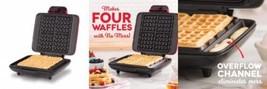 DASH No Mess Belgian Waffle Maker: Iron 1200W + Maker Machine For Waffle... - $62.22