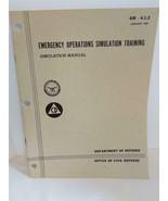 DOD Emergency Operations Simulation Training Manual SM-4.1.2. January 1967 - $15.83