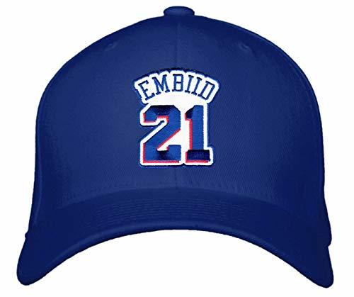 Joel Embiid Hat - Philadelphia Basketball Adjustable Cap (Blue)