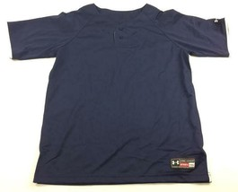 New Under Armour Classic Two Button Baseball Jersey Youth XL Navy UBJ108Y - $13.26