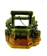 Vintage McCoy Pottery Wishing Well w/original chain- Planter Nice - $39.55