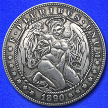 "Angel ""Hobo Nickel"" on Morgan Dollar Coin ** - $4.79"