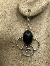 Vintage Black Onyx Earrings 925 Sterling Silver LeverBack Dangle - $84.15
