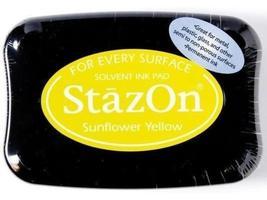 Stazon Full Size Ink Pad, Sunflower Yellow