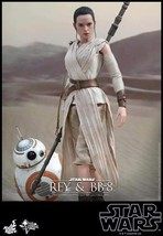 Hot Toys MMS337 Star Wars The Force Awakens Rey and BB-8 1/6 Figure - $349.68