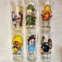 Warner Bros Cartoon Glass CHOICE 1973 PEPSI Petunia Daffy Speedy Tweety Tumbler - $14.00