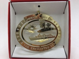 Commodore Cruise Line SS Enchanted Seas 24K Gold Finish Christmas Ornament - $9.49