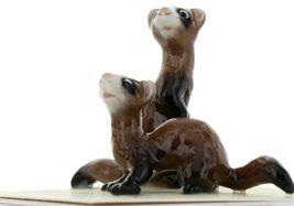 Hagen Renaker Wildlife Ferret Friends Ceramic Figurine Set image 4
