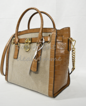 Michael Kors Hamilton Canvas/Leather Large East West Satchel/Shoulder Ba... - $249.00