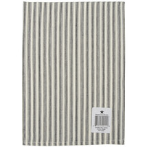 "Dunroven House Cream Ticking Stripe Tea Towel 20""x28""-black Stripe - $8.39"