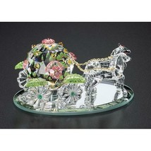 Crystal World Fantasy Cinderella Coach ( Sm )  Figurine New In Box - $98.99
