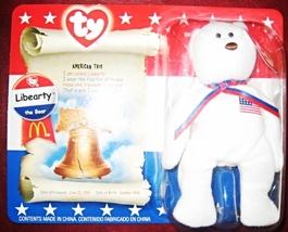 TY McDonald's Teenie Beanie - LIBEARTY the Bear (2000) - $12.95