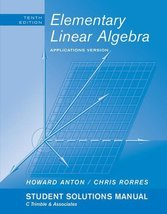 Student Solutions Manual to accompany Elementary Linear Algebra with App... - $18.30