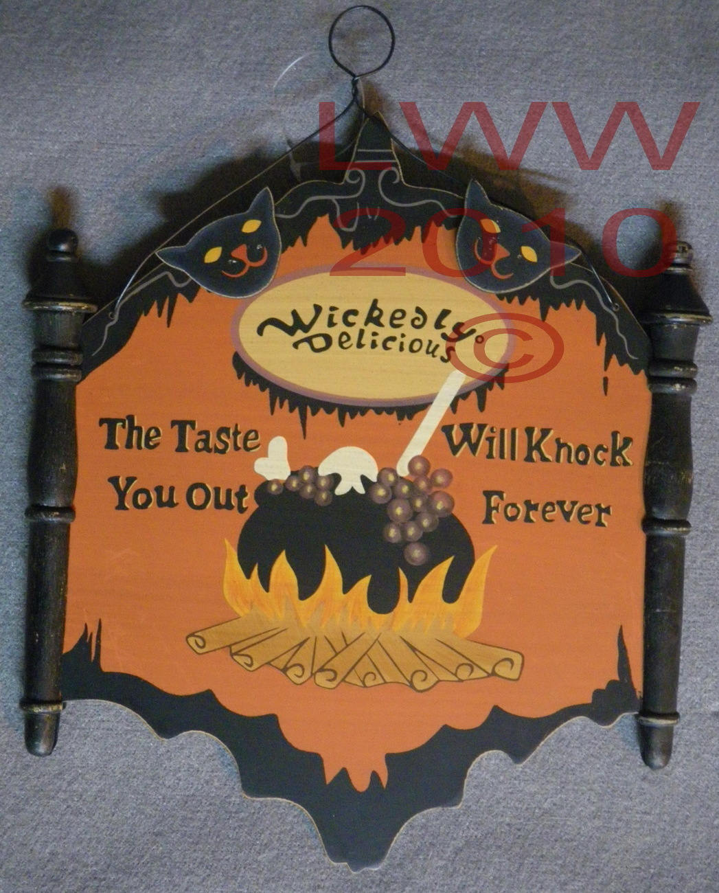 Wickedly Delicious Witch Caudron Halloween Sign