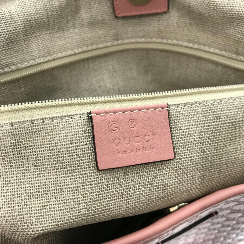 NEW/AUTHENTIC GUCCI 449648 Microguccissima Leather Open top Tote Handbag