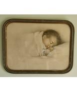 Vintage Sleeping Baby Picture Print by Annie Benson Muller Precious Asleep - $24.99