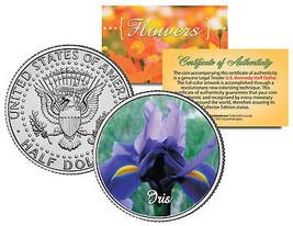 IRIS FLOWER JFK Kennedy Half Dollar US Colorized Coin - $8.86