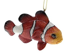 Globe Imports Clown Fish Christmas Ornament, 3.75 Inches Long - $13.86