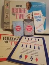 Vintage 1964 Goren's BRIDGE FOR TWO Card Game 4401 Milton Bradley - $13.86