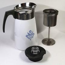 CORNING WARE 9 Cup Coffee Pot Percolator Stove Top BLUE CORNFLOWER Complete - $33.99