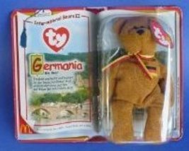 TY McDonald's Teenie Beanie - GERMANIA the Bear (2000), Poem in German - $225.00