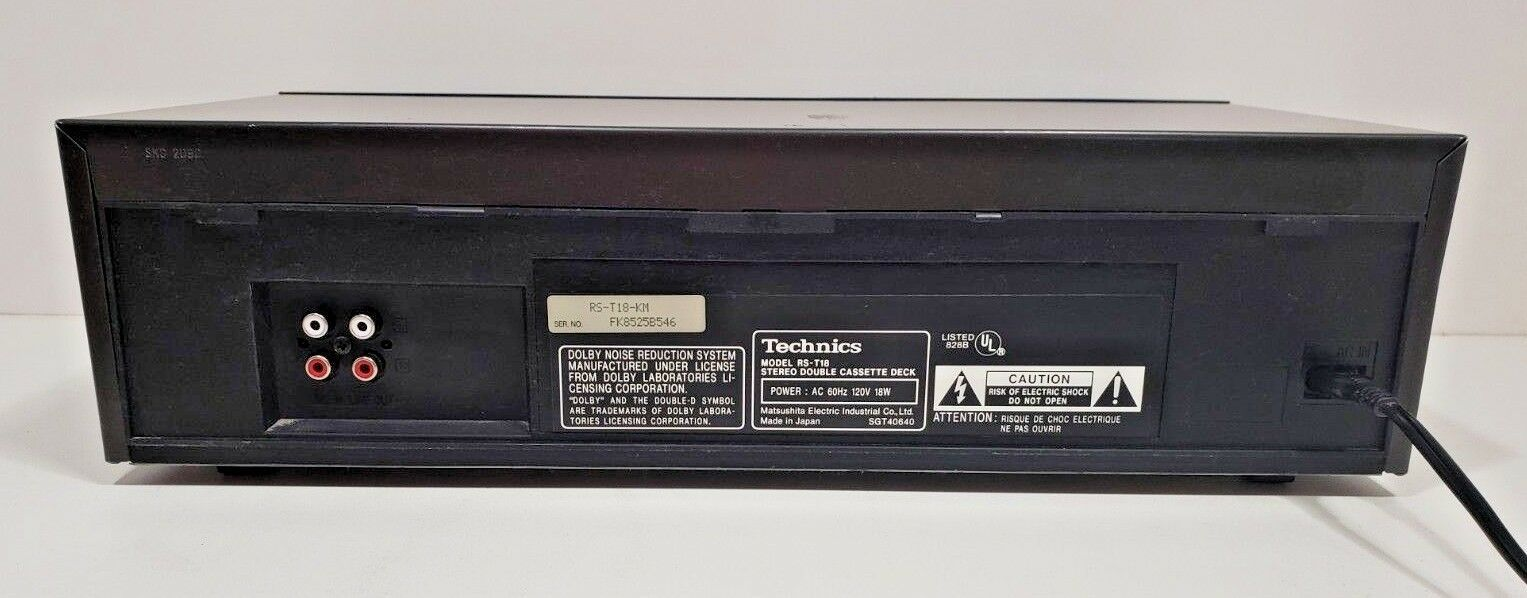 Technics Stereo Double Cassette Deck RS-T18...Tested image 6