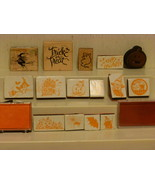 15 HALLOWEEN STAMPERS SOME WOOD AND SOME FOAM - $9.00