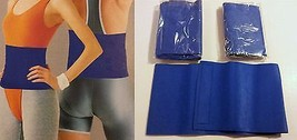 2 Blue Slimming Waist Trimmer Exercise Belts Fat Burning Sweat Suana Weight Loss - $4.99