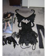 ADULT BLACK MIDNIGHT FAIRY HALLOWEEN COSTUME SI... - $27.50