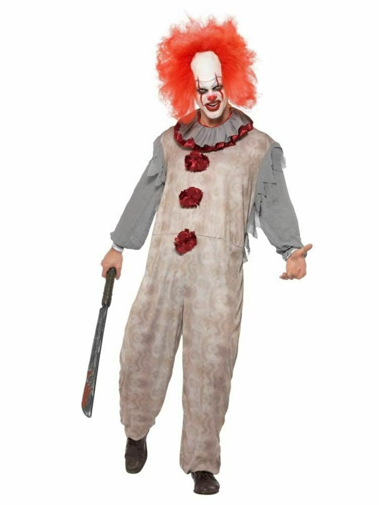 Primary image for Vintage Clown Costume,Halloween Cirque Sinister Fancy Dress, Medium #CA
