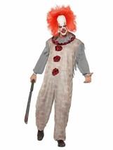 Vintage Clown Costume,Halloween Cirque Sinister Fancy Dress, Medium #CA - $50.15