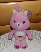 "CARE BEARS Pink Plush 8"" Cheer Bear with Rainbow Bow - $3.98"