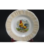 6 Gibson Everyday Designs  Rooster Salad Plates Excellent Condition set ... - $28.42
