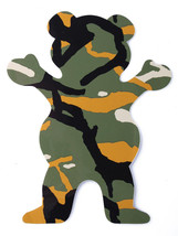 """Grizzly Griptape 5"""" Olive Tree Branch Camo Bear Stamp Skateboard Sticker Decal"""