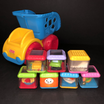 Fisher Price Peek a Boo Block Dump Truck 7 Peek A Blocks Baby Child Toy ... - $41.95